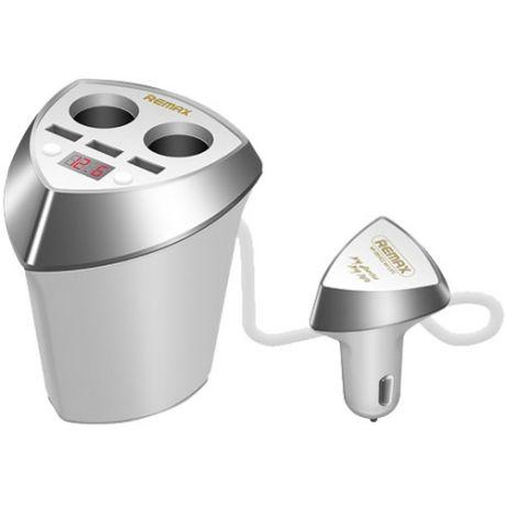 Автомобильная зарядка с 3-мя USB+2 прикуривателя Remax Smart CR-3XP