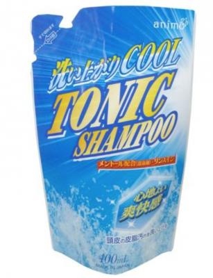 Шампунь для волос тонизирующий с ментолом Rocket Soap Tonic Shampoo Refill 400мл мягкая упаковка
