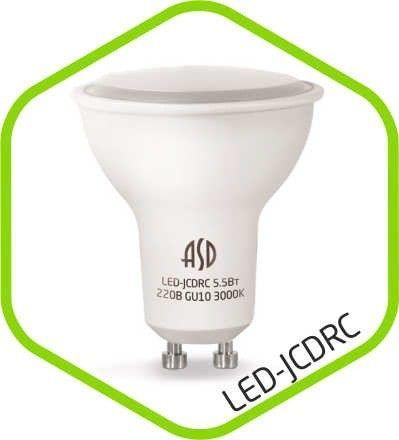 Светодиодная лампа ASD GU10 5.5W 4000К 4K 55x50 матов. пластик/алюм standard 2309