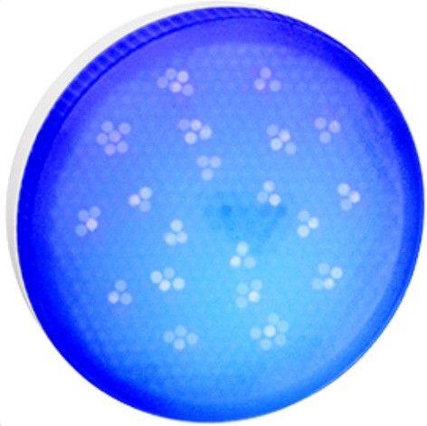 Светодиодная лампа Ecola GX53 св/д 8W Синий матов.  28x74 T5TB80ELC