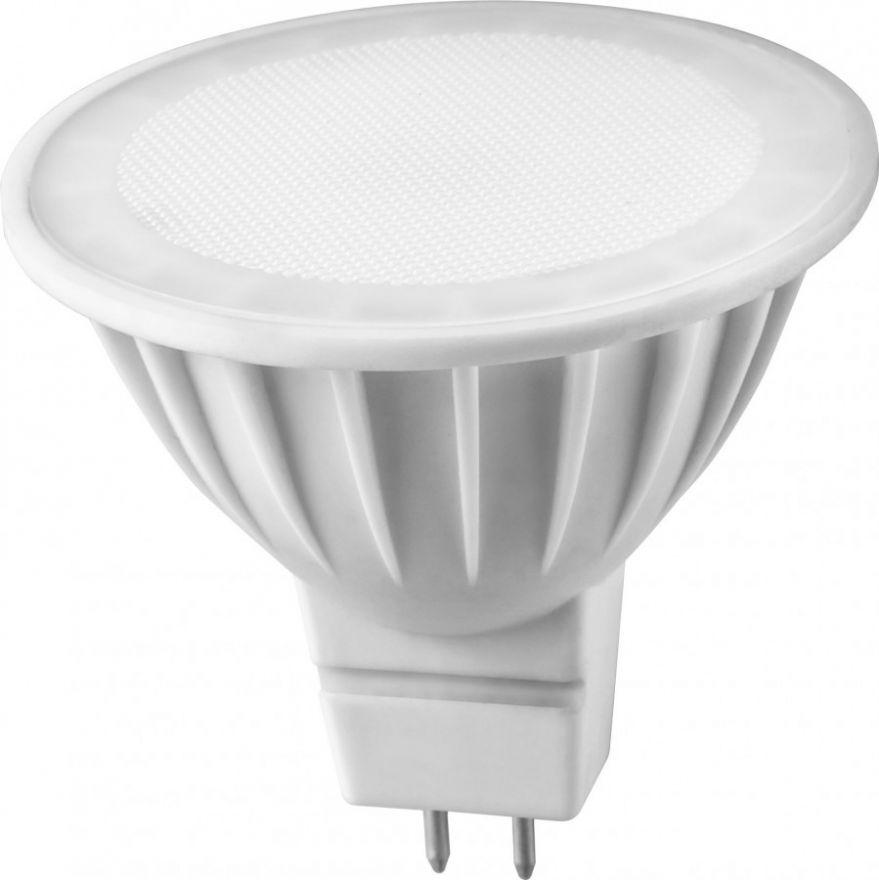 Светодиодная лампа ОНЛАЙТ MR16 GU5.3 220V 5W(350Lm) 3000K 2K 50x50 матов. ОLL-MR16-5-230-3K-GU5.3 71637