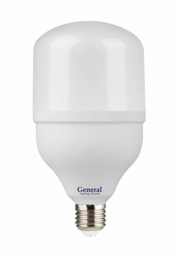 Светодиодная лампа General высокомощн. E27 30W(2150lm) 6500K 6K матов. 270° 183x100мм (замена ДРВ) 660001
