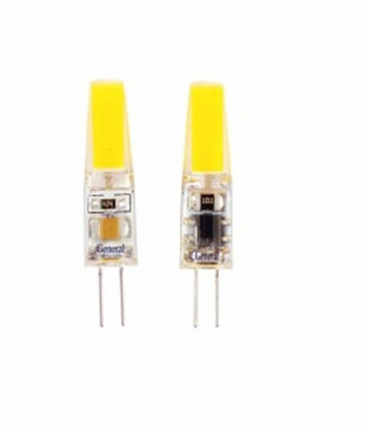 Светодиодная лампа General G4 220V 3W(230lm) 2700K 2K 37,5x10 силикон BL5 (цена за 1шт.) 651800