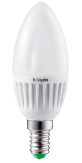 Светодиодная лампа Navigator Свеча C37 E14 7W(560lm) 4000 4K 104x37 пластик/алюм. NLL-C37-7-230-4K-E14-FR 94492