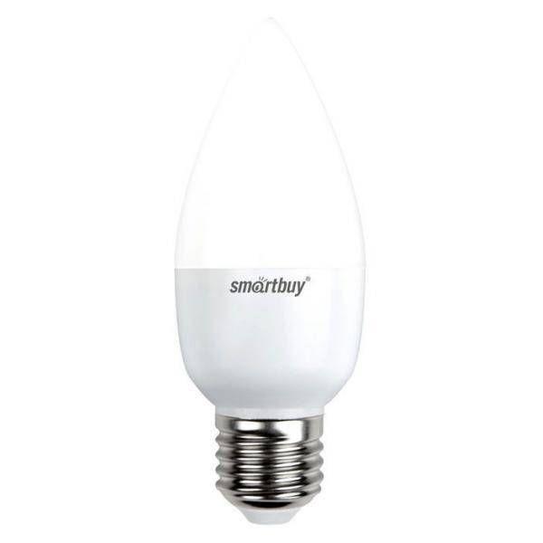 Светодиодная лампа Smartbuy свеча C37 E27 8,5W(8W) 6000K 6K матовая пластик SBL-C37-8_5-60K-E27