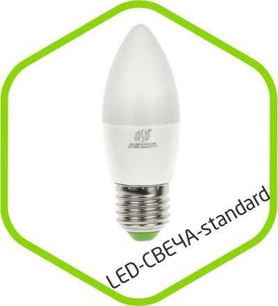Светодиодная лампа ASD Свеча C37 E27 5W 3000К 2K 104x37 пластик/алюм standard 3900