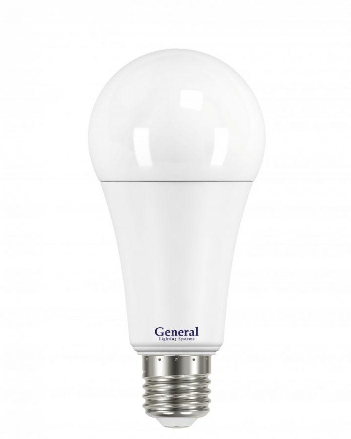 Светодиодная лампа General ЛОН A67 E27 25W 4500K 4K 67x110 пластик/алюмин. 690200