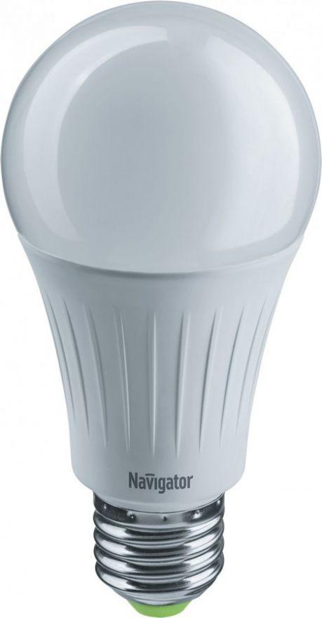 Светодиодная лампа Navigator ЛОН A60 E27 12W (1150lm)2700K,123х60мм пошаг.димм NLL-A60-12-230-2.7K-E27 -3STEPDIMM 61626