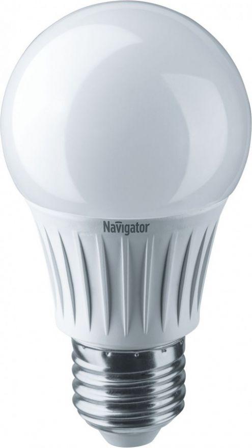 Светодиодная лампа Navigator ЛОН А55 E27 7W(595lm) 6500 6K 55х103 NLL-A55-7-230-6.5K-E27 (10!) 61236