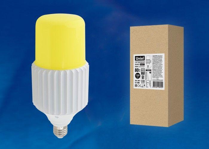 Светодиодная лампа Uniel высокомощн. E40 80W(10000lm) 6000K металл 280x126 удал.люминофор LED-MP200-80W/6000K/E40/PH