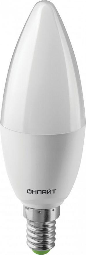 Светодиодная лампа ОНЛАЙТ лампа св/д свеча C37 E14 10W(800lm)6500K6K116х38OLL-C37-10-230-6K-E14 61958