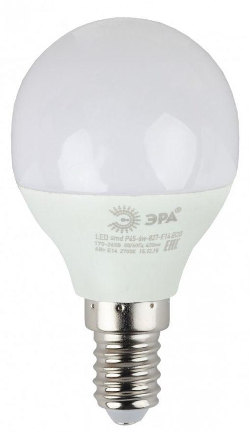 Светодиодная лампа ЭРА ECO шар P45 E27 8W(640lm) 2700K 2K P45-8w-827-E27 3631