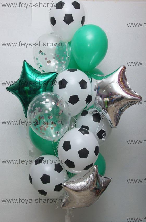Футбольный фонтан шаров