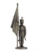 Подпрапорщик Псковского мушкетерского полка с полковым знаменем. Россия, 1803-06 гг.