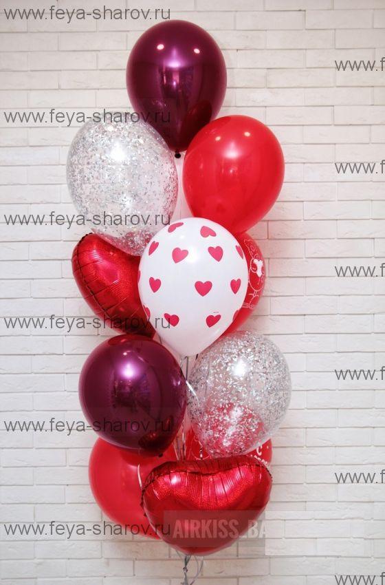 Влюбленный фонтан шаров