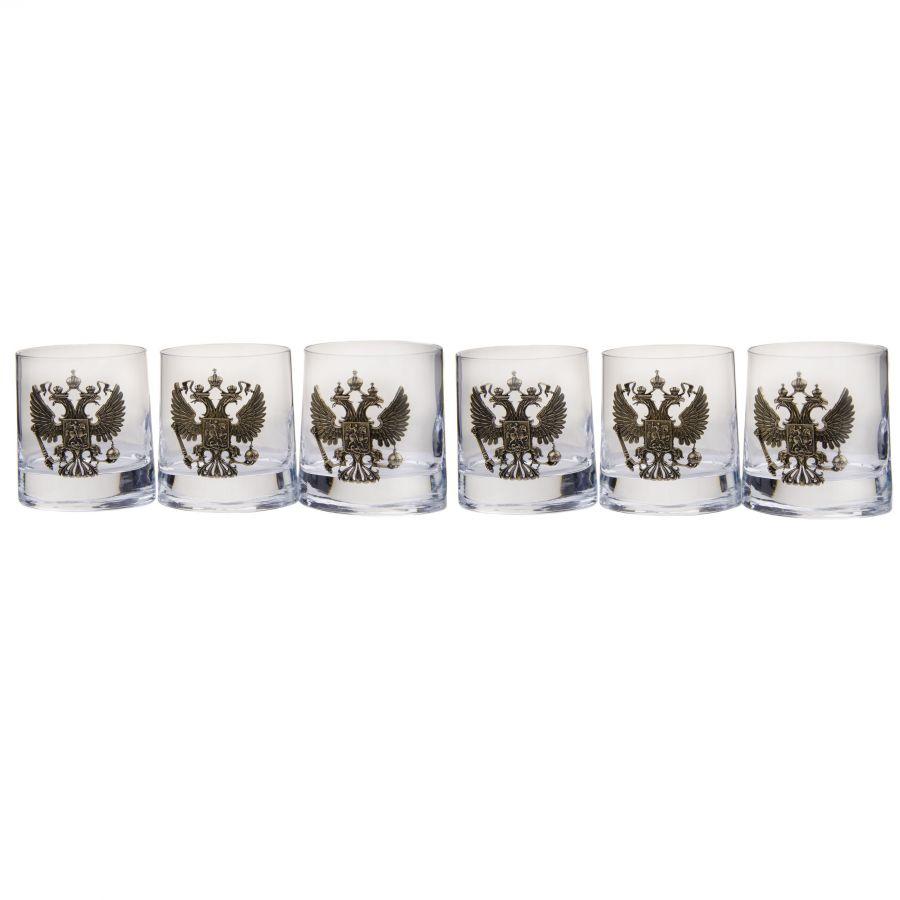 Набор стаканов Герб РФ 6шт индивидуальный заказ