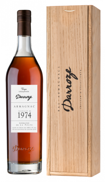Bas-Armagnac Darroze Unique Collection Domaine de La Poste a Condom 1974, 0.7 л., 1974 г.