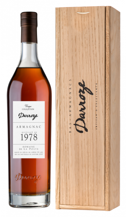 Bas-Armagnac Darroze Unique Collection Domaine de La Poste a Condom 1978, 0.7 л., 1978 г.