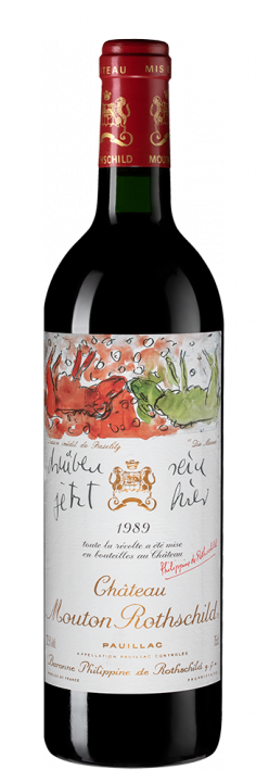Chateau Mouton Rothschild, 0.75 л., 1989 г.