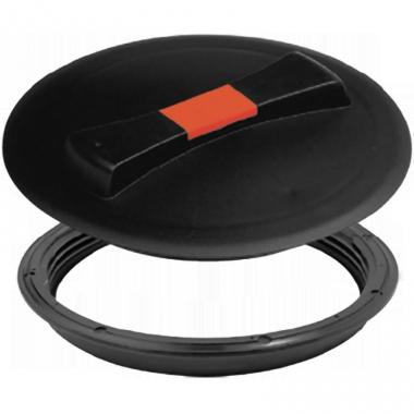 Крышка 450 мм с дыхательным клапаном  (цвет: cиний, черный)