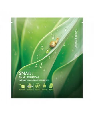 Маска для лица гидрогелевая Nature Republic Snail Solution Pearl HydroGel Mask  25гр