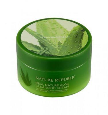 Крем очищающий с экстрактом алоэ Nature Republic Real Nature Cleansing Cream (Aloe) 200мл