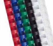 Пружины для переплета пластиковые ProfiOffice 22 мм прозрачные белые (50 штук в упаковке) (арт. 60977)