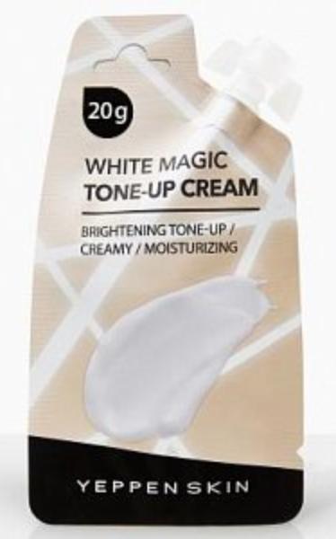Dermal Yeppen Skin Tone-up cream White Magic Увлажняющая крем-основа для выравнивания тона и сияния кожи лица Тон Прозрачный белый 15 гр