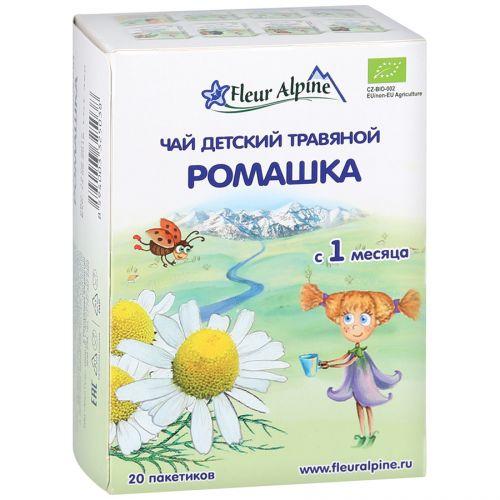 """Чай Fleur Alpine детский травяной """"Organic"""" Ромашка с 1 месяца, 20пак*1г"""