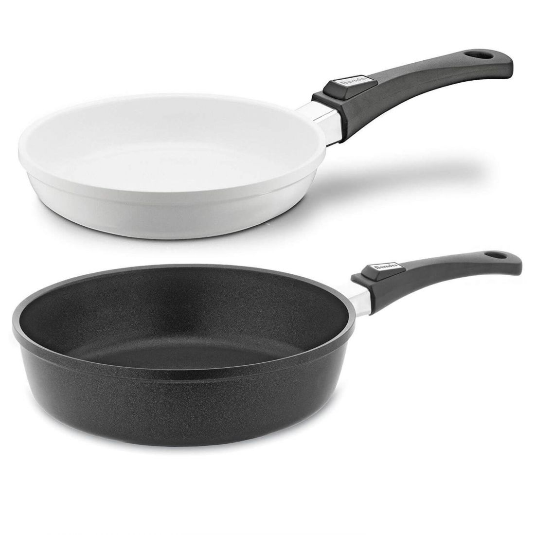 Набор сковорода 24 + сотейник 28, Vario Click Induction Black&White, Berndes