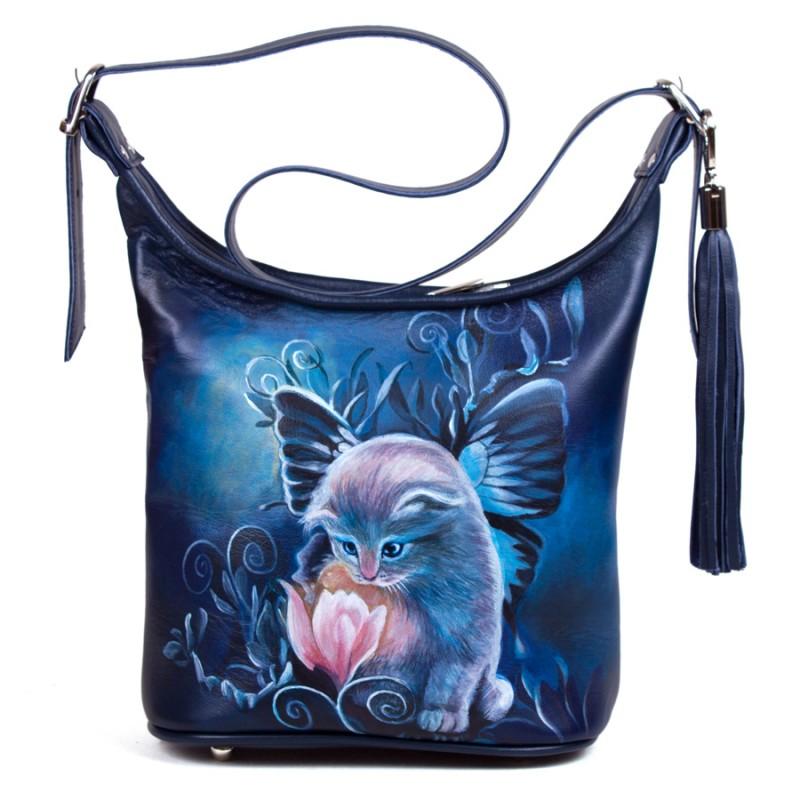 Маленькая сумочка Котёнок и цветок >Артикул: AA220121