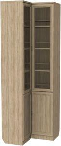 Шкаф угловой для книг (модуль 211) дуб сонома