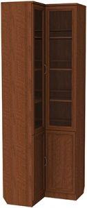 Шкаф угловой для книг (модуль 211) дуб