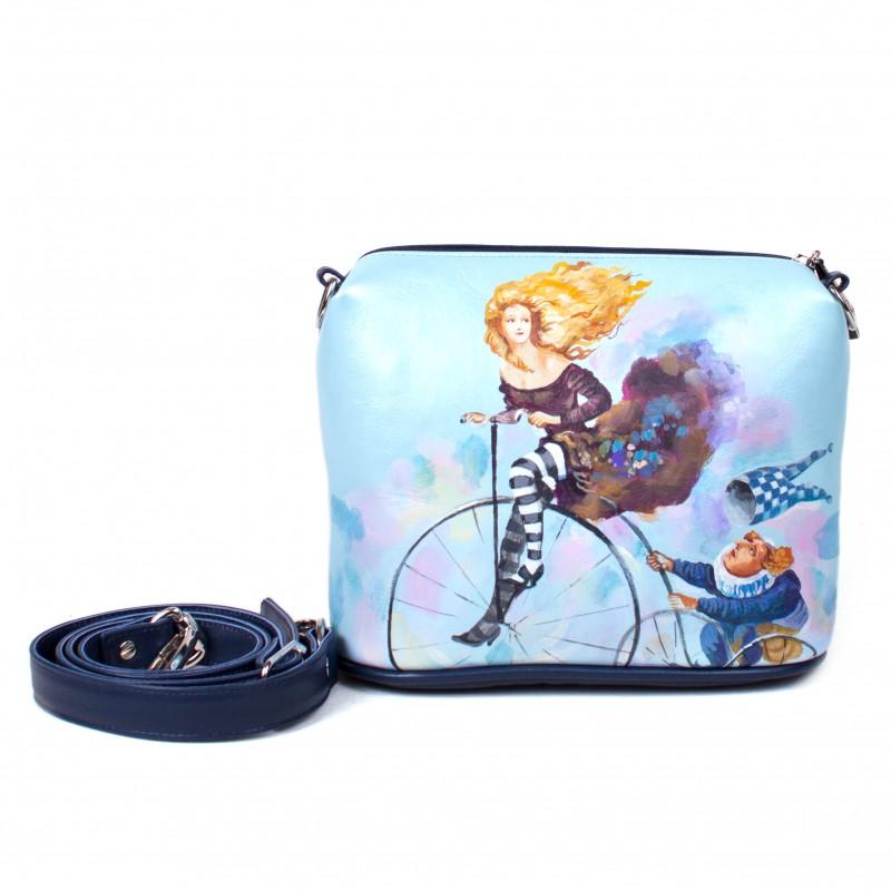 Сумочка кроссбоди Девушка на велосипеде >Артикул: AE010011