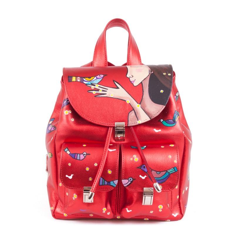 Женский рюкзак Этно Птички >Артикул: AF110071