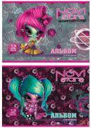 Альбом для рисования Action! Novi Stars, A4, 12 листов, 2 дизайна (арт. NS-AA-12)