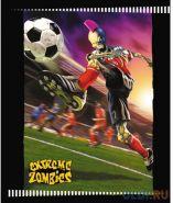 Тетрадь школьная Action! Extreme Zombies, 24 л., линейка, скрепка (арт. EZ-AN 2401/1)