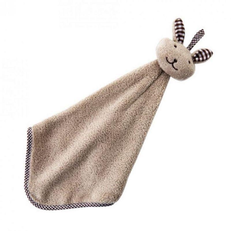Детское полотенце из микрофибры Зайчик, цвет коричневый