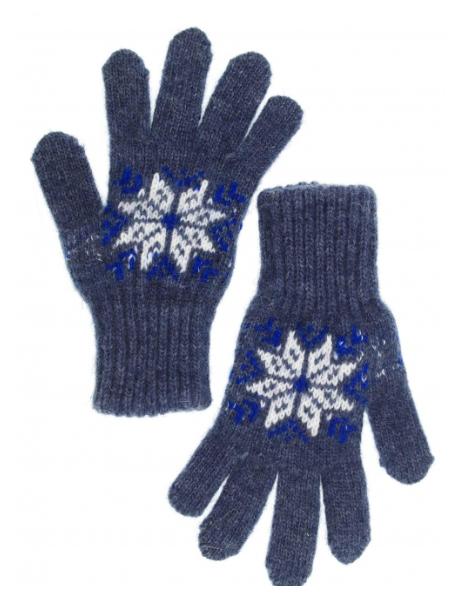 Перчатки для мальчика цвета джинс