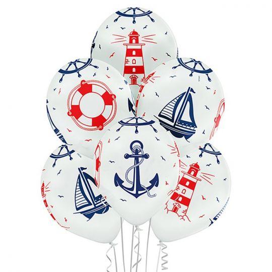 Морской шар латексный с гелием