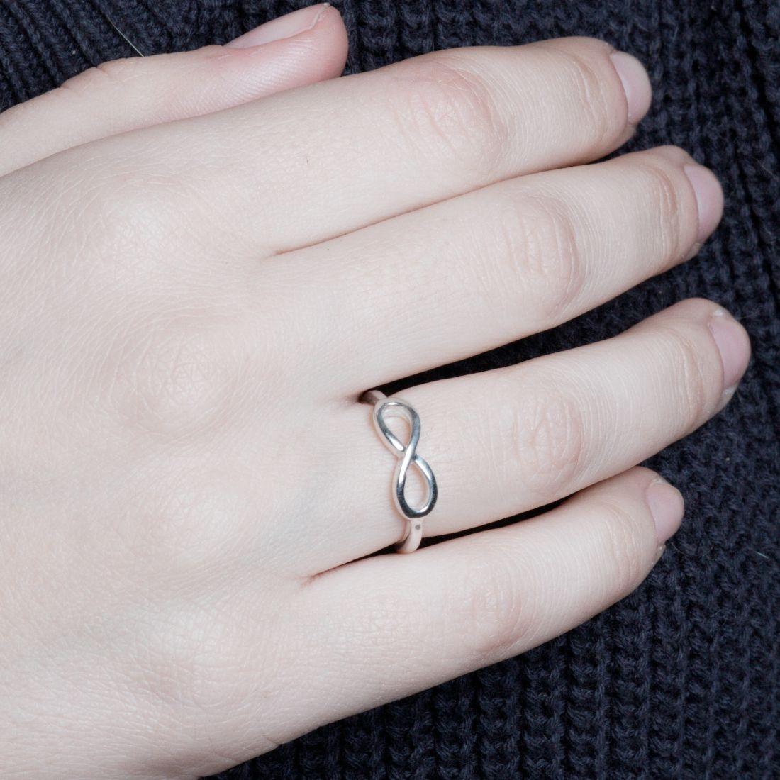 """Кольцо  """"Бесконечность"""" серебро 925"""
