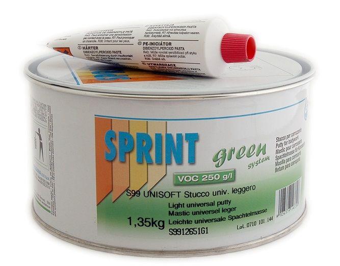 Sprint S99 Шпатлевка облегченная белая Unisoft, 1,03л.