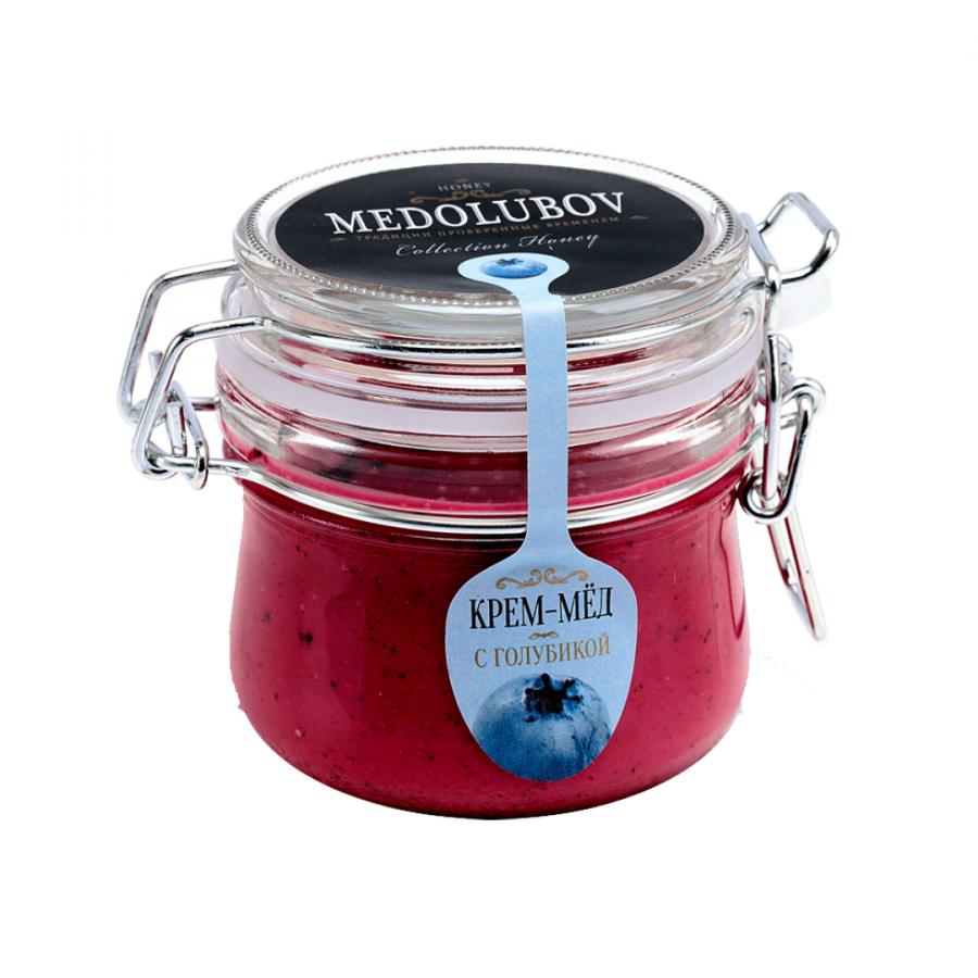 Крем-мёд Medolubov с голубикой 250мл бугель