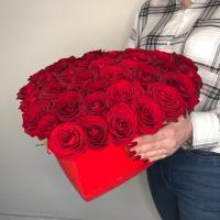 Сердце: красная роза